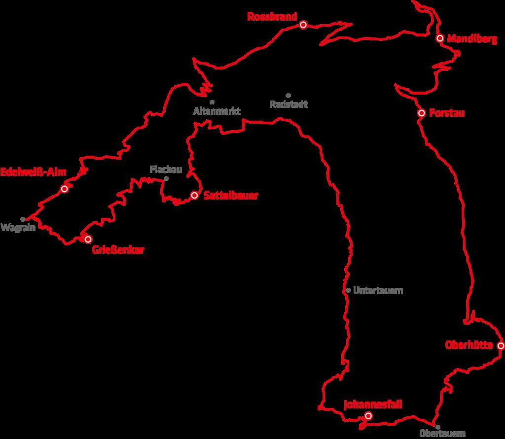 Stoneman Taurista Mountainbike Strecke Österreich