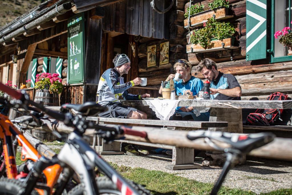 Mountainbike-Tour Stoneman Taurista MTB Einkehr und Rast auf Hütten und Almen Salzburger Land (Österreich)